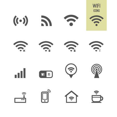 radio wave: Wifi icons. Vector illustration.