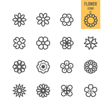Set of flower. Vector illustration. Illustration