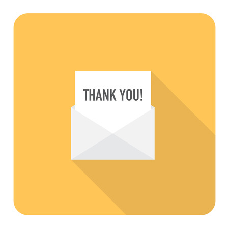 Thank you letter. Vector Illustration.