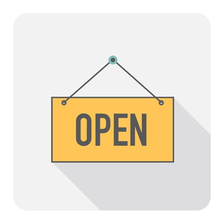 Open sign. Vector Illustration. Illustration