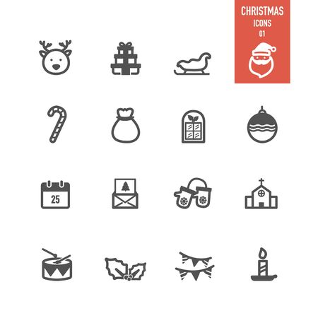 Christmas icon. Vector Illustration. Illustration