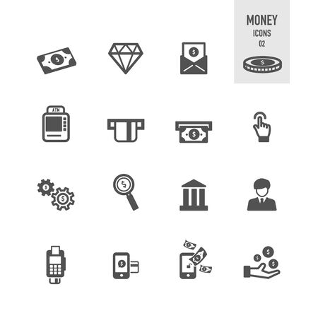 Money icons. Vector Illustration. Stock Vector - 86164173