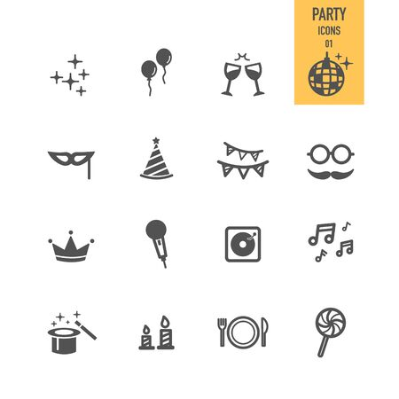 Party icons. Vector Illustration. Stock Vector - 86558637