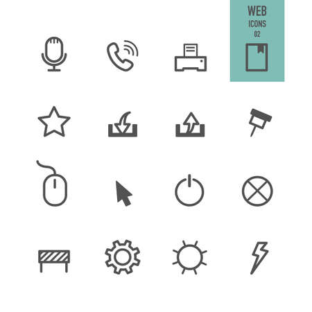 Web icons. Vector illustration. Illustration