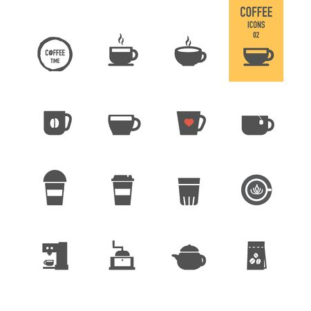 Coffee icons. Vector illustration. Stock Vector - 86164174