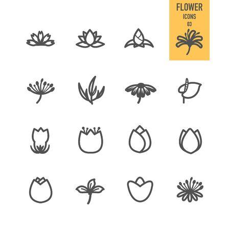 Flower icons. Vector illustration. Stock Vector - 85830713