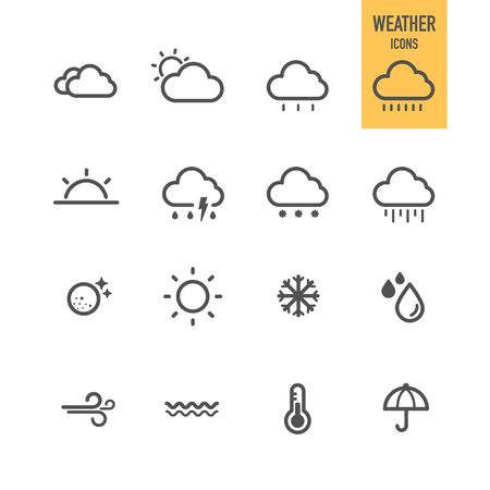 Weather icons. Vector illustration. Illustration