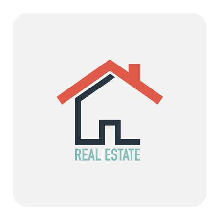 Real estate sign. Vector illustration.