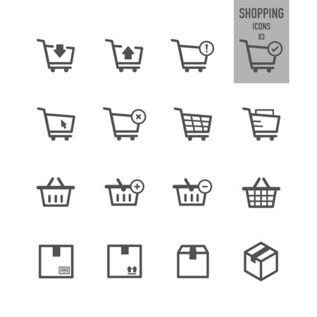 Shopping and E-Commerce icons. Vector illustration. Stock Vector - 86164176