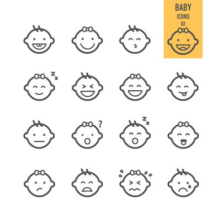Baby face icons. Vector illustration. Stock Vector - 86558640