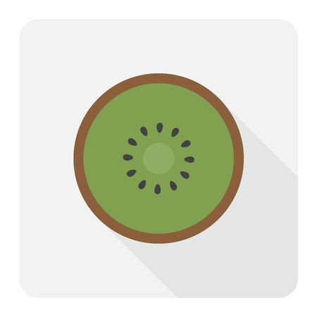 Kiwi flat icon. Vector illustration. Illustration