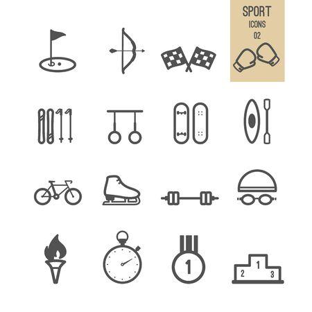 Sport icons. Vector illustration. Stock Vector - 85830715
