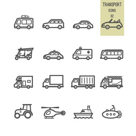 Transportation icons. Vector illustration. Stock Vector - 86558643