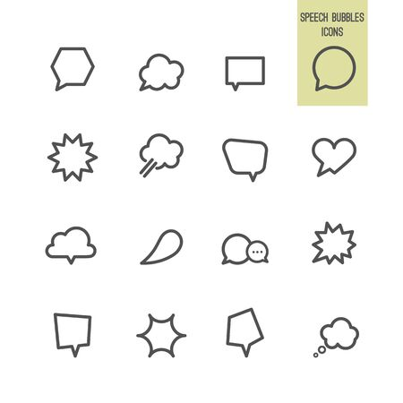 Speech bubbles icons. Vector illustration.