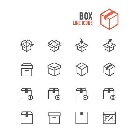 Box icons. Vector illustration. Illustration