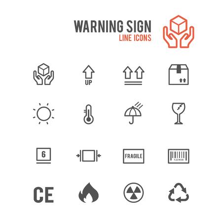 Warning icons. Vector illustration. Stock Vector - 85778403