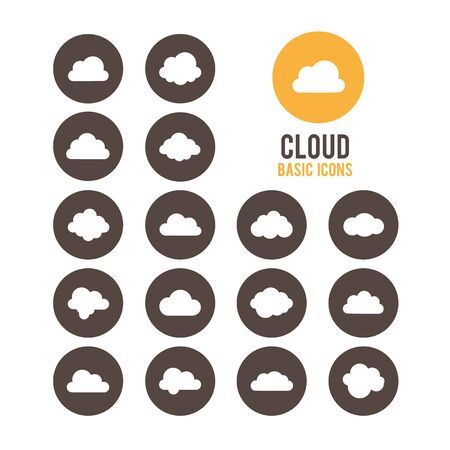 Cloud icons. Vector illustration.