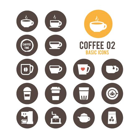 Coffee icons. Vector illustration. Stock Vector - 85752113
