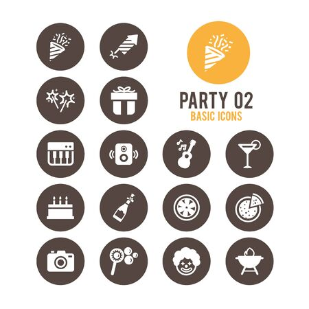 Party icons. Vector Illustration. Stock Vector - 85778406
