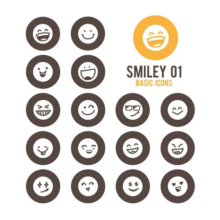 Emotion icons. Vector Illustration.