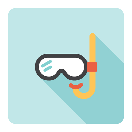 Diving mask flat icon. Vector illustration. Stock Vector - 85752116