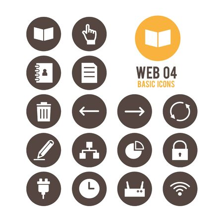 Web icons. Vector Illustration. Stock Vector - 85778408