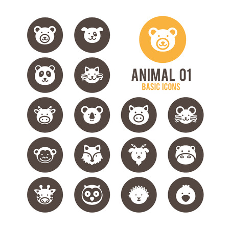 Animal icons. Vector Illustration. Illustration