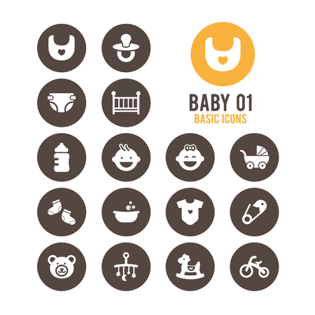 Baby icons. Vector Illustration. Illustration
