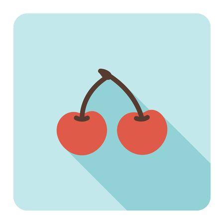 two: Cherry icons. Vector Illustration. Illustration