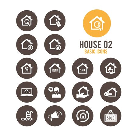 House icons. Vector illustration. Stock Vector - 85768657