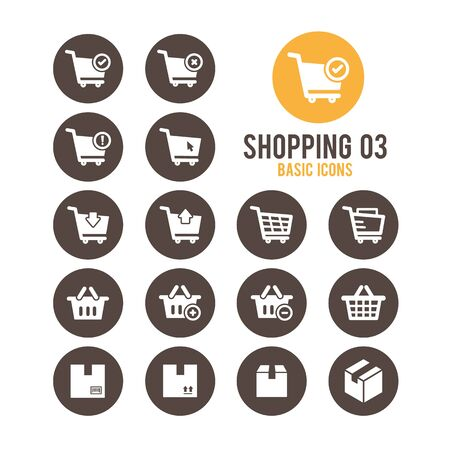delivery service: Shopping and E-commerce icons. Vector illustration.