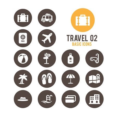 Travel and tourism icons. Vector illustration. Stock Vector - 85752128