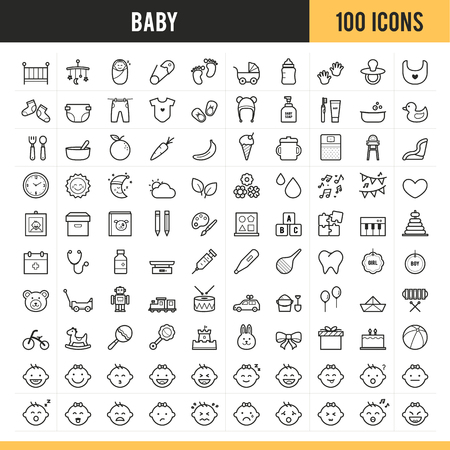 Baby icons Vector illustration.
