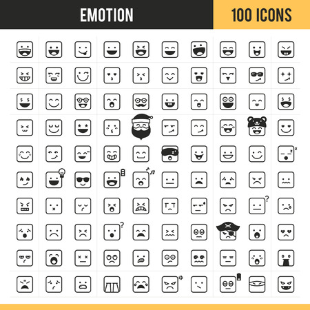 Emotion icon set. Vector illustration. Illustration