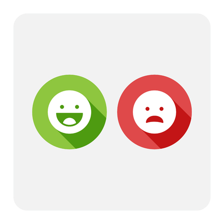 Smiley faces icons Vector illustration.