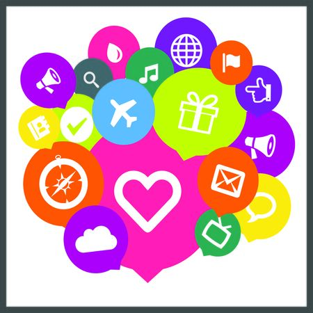 Media Social Icon Stock Photo