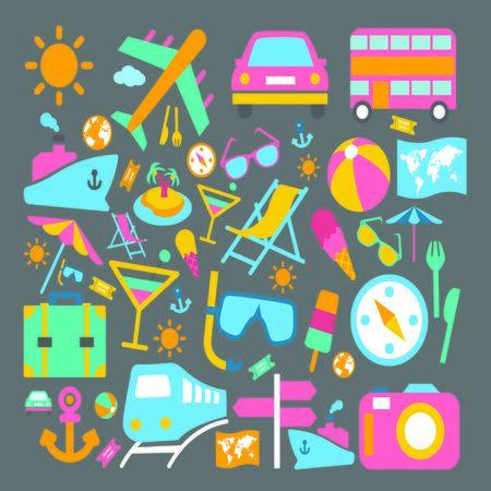 Travel Icon Stock Photo