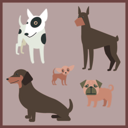 Dog Vector photo