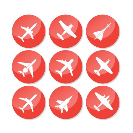 Plane Icon Vector Stock Photo - 39728463