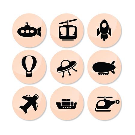 ferry boat: Plane Icon Stock Photo