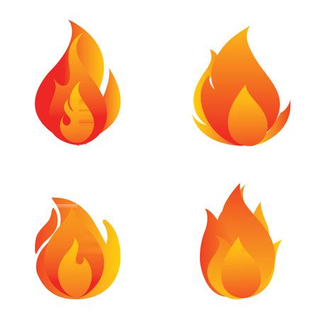 Fire Icon Stock Photo