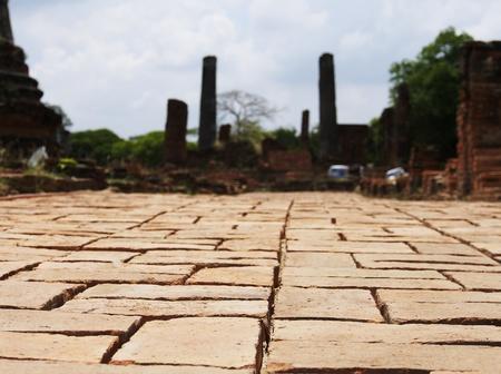 sacrosanct: Brick Pathway, Ayutthaya, Thailand