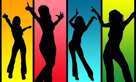 action fund: Dancing Women Stock Photo