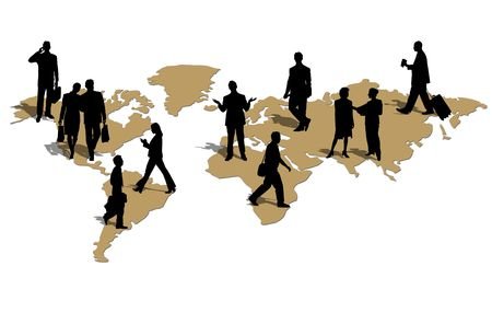 Businessmen in the world Stock Photo - 3597046