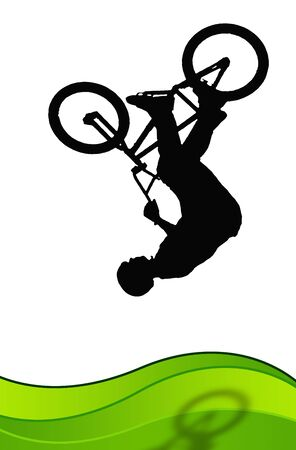 BACKFLIP: Young does backflip with a bicycle
