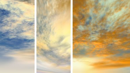 fondo azul: mosaic with various types of clouds
