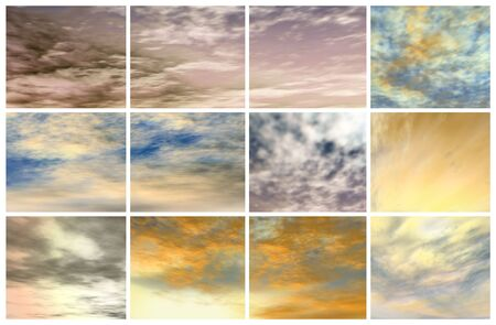 mosaic with various types of clouds photo