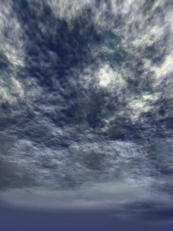 Landscape with clouds photo