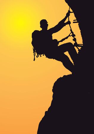 climbing wall: Mountain Climbing