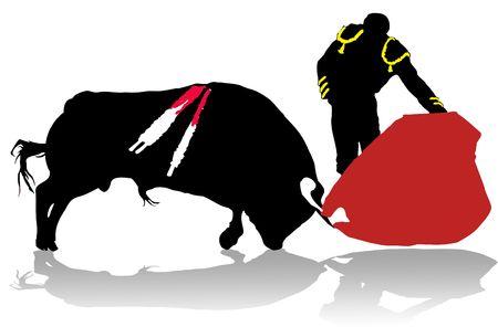 アクションの闘牛士 写真素材